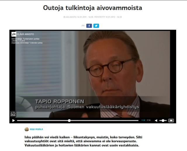 Silminnäkijä_Tuntematon potilas_Elävä arkisto_Outoja tulkintoja aivovammoista_Tapio Ropponen_1