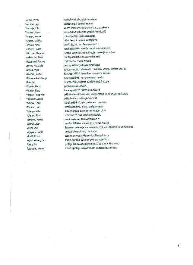 Vanhasen lista_sivu 6_Suomen EU-politiikan tahtotila 2010-luvulla_02022009