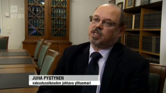 Vakuutusoikeus, Juha Pystynen, vakuutusoikeuden johtava ylituomari. Lähde: Yle uutiset