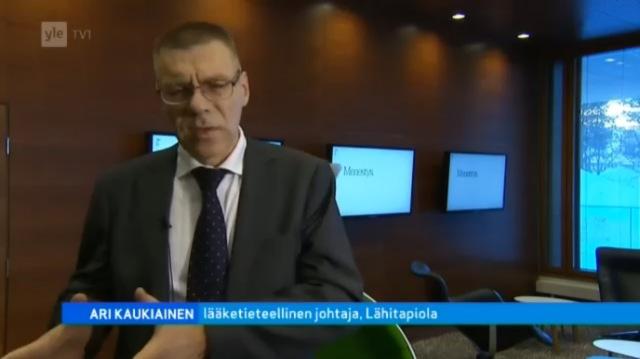 Ari Kaukiainen, lääketieteellinen johtaja, LähiTapiola. Lähde: A-studio 4.2.2013