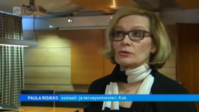 Paula Risikko, sosiaali- ja terveysministeri, kokoomus. Lähde: A-studio 4.2.2013