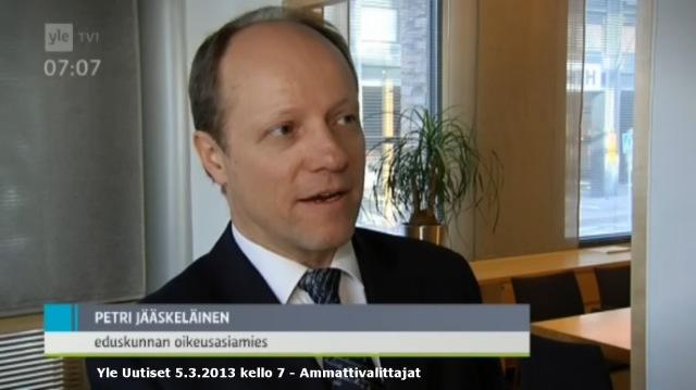 Eduskunnan apulaisoikeusasiamies Maija Sakslinin selvitys vakuutusoikeudesta.
