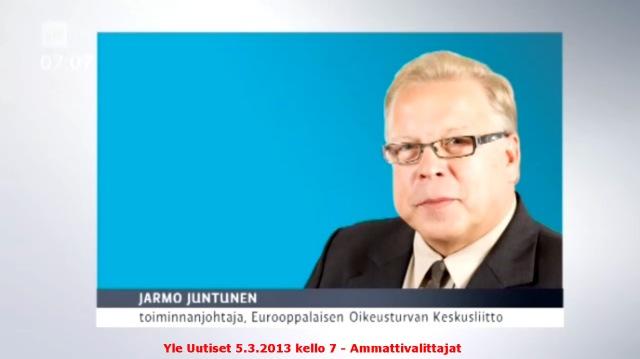 Puhelinhaastattelussa ammattivalittajista EOK:n toiminnanjohtaja Jarmo Juntunen.