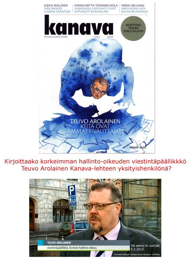 """Yle aamu-tv:n uutiset 5.3.2013 """"Ammattivalittajat.."""""""