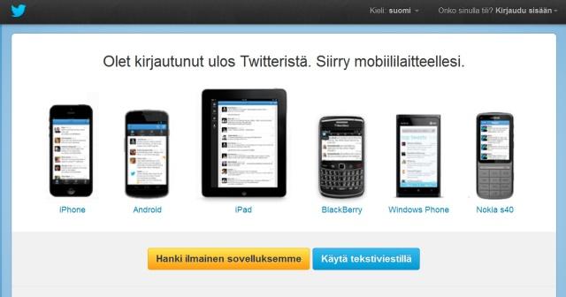 Microsoftin Lumia ei vielä Twitteri tunnusta.