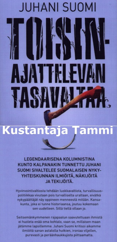 """Kirjan jatko-osaksi """"Toisinajatteleva Suomi""""?"""
