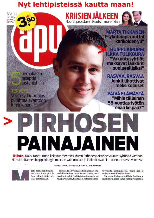 """Huippukirurgi Ilkka Tulikoura """"Vakuutusyhtiöt maksavat lääkärit puolueellisiksi"""""""