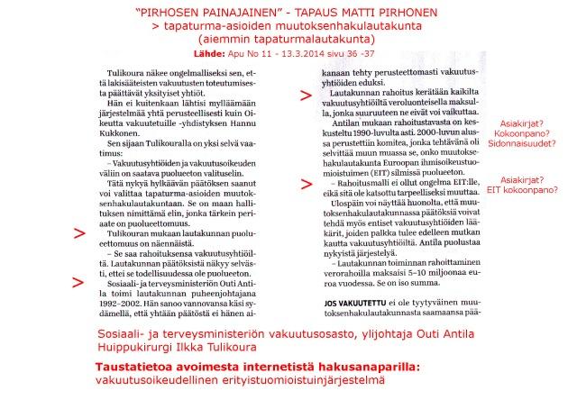 Huippukirurgi Ilkka Tulikoura avaa jutussa hoitavan lääkärin näkökulmaa.