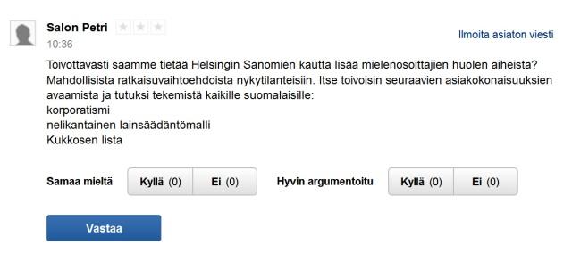 Seuraavan päivän uutisvirrassa Helsingin Sanomat uutisoi jo taustoja tarkemmin.