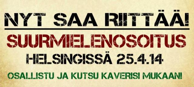 Suurmielenosoitus 25042014 Helsingissä_Flyer 4