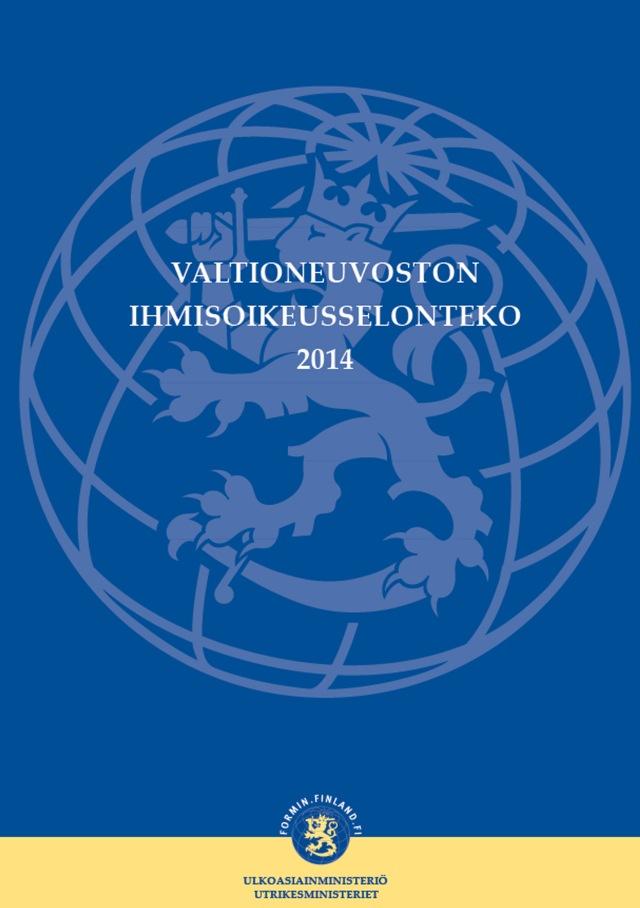 Suomen ihmisoikeustilanne 2014 (virallinen versio)