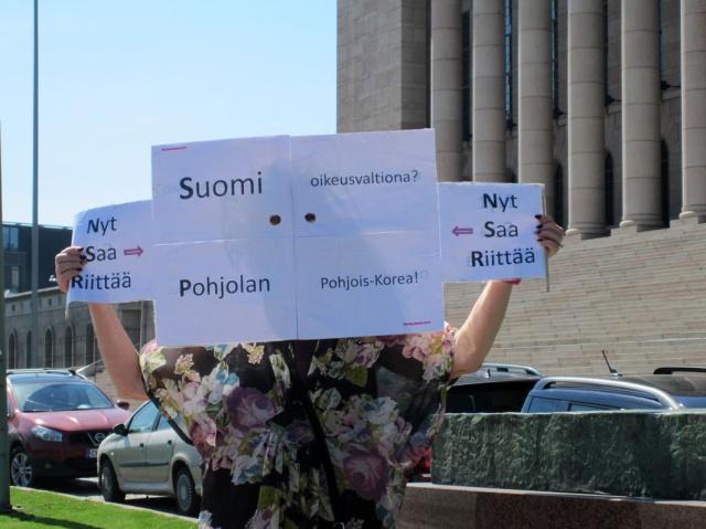 """Avoin kysymys ilmatilaan: """"Suomi oikeusvaltiona? Pohjolan Pohjois-Korea!"""""""