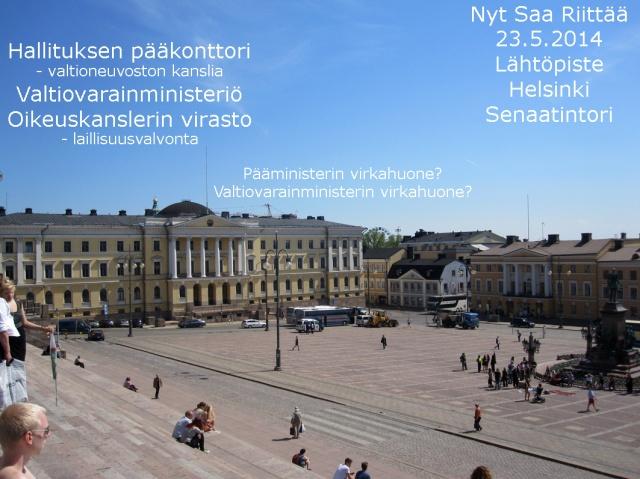 Avoin Senaatintori; monien mahdollisuuksien paikka.