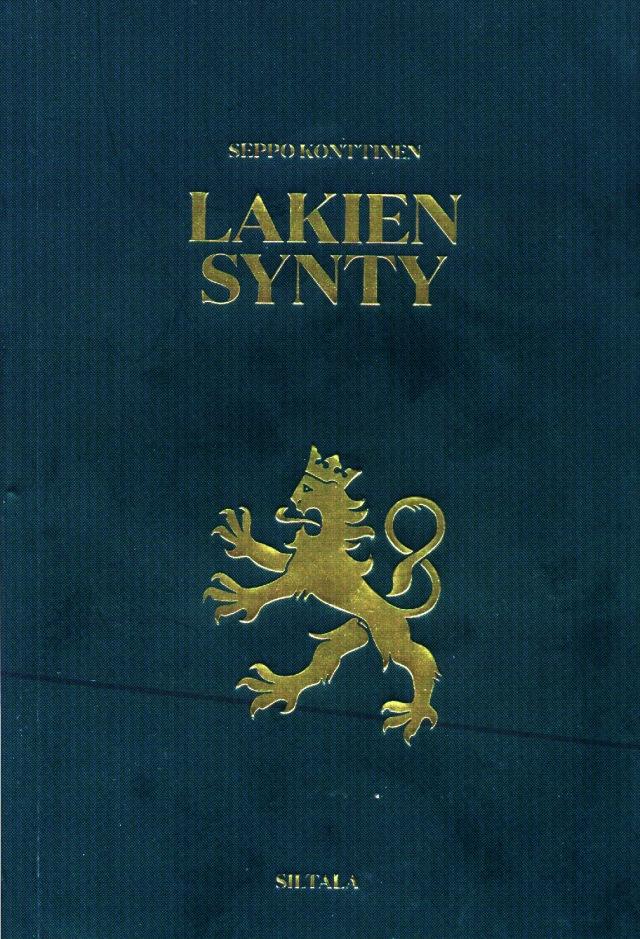 Lakien synty - kirja jatkaa siitä mihin Eduskunta 2 - dokumenttinäytelmä jäi.