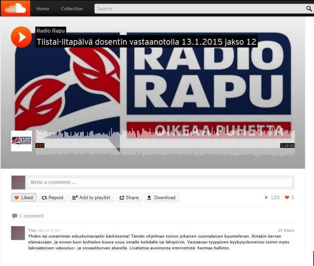 Tämän näköisestä näkymästä paikallisesti toimiva radio; voi toimia globaalisti!