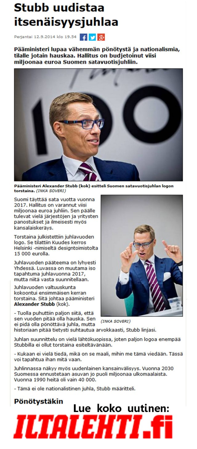 Toisenlaista näkökulmaa Suomi 2017 kanavilta.