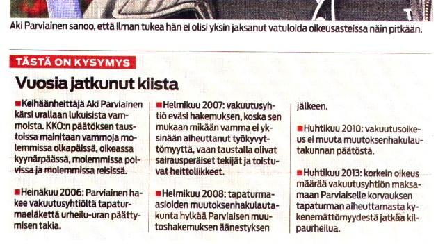 Tästä on kysymys – Tapaus Aki Parviainen pähkinänkuoressa – Savon Sanomat 27.4.2013
