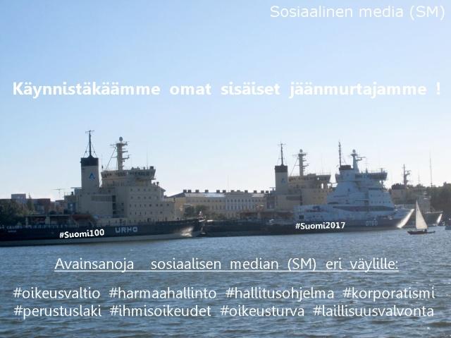 Suomen 100-vuotisjuhlat lähestyvät. Suomi 2017 - juhlat kahden vuoden päästä.
