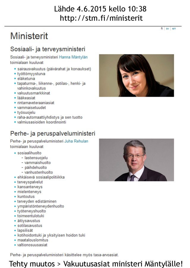 Lähde: http://stm.fi/ministerit