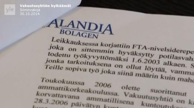 Tapaus_Silminnäkijä 30102014_Alandia Bolagen_Niina