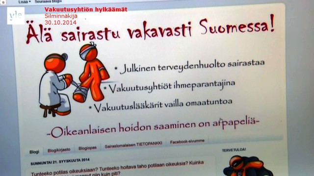 Tapaus_Silminnäkijä 30102014_Älä Sairastu Vakavasti Suomessa blogiliike
