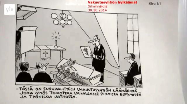 Tapaus_Silminnäkijä 30102014_Niina P Koskela_Jarin piirroskuva_Vakuutuslääkäri