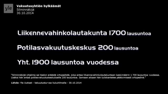 Tapaus_Silminnäkijä 30102014_Ortopedi HUS_Lausuntoautomaatti