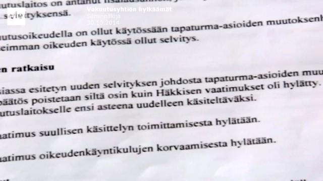 Tapaus_Silminnäkijä 30102014_Paluu lähtöruutuun_Vakuutusoikeuden uusi päätös_Pekka Häkkinen