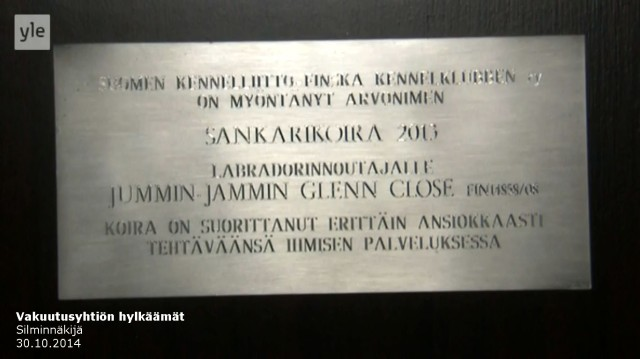 Tapaus_Silminnäkijä 30102014_Pelastajakoira_Niina P Koskela