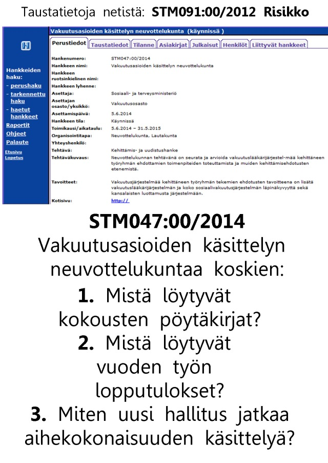 Miksei sosiaali- ja terveysministeriö ole julkistanut vieläkään (1.7.2015) tämän työryhmän asiakirjoja?