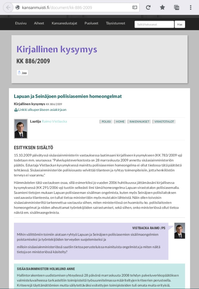 Ovatko asiat kunnossa (2015)? Entä muiden Suomen oikeus- ja poliisitalojen?