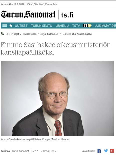 Hyvästit oikeusvaltion toteutumiselle Suomessa?