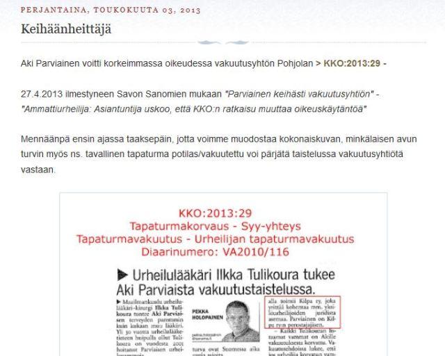 Tietoa kahden urheilun maailmanmestarin vakuutustaisteluista Suomessa.