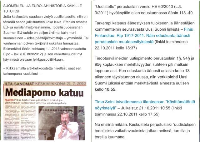 """""""Horisivatko"""" myös mediapomo ja Timo Soini?"""
