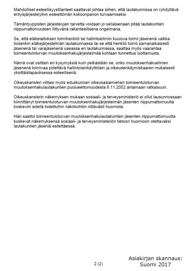 Oikeuskanslerin virasto 14.06.2005 101/1/04 sivu 2 (2)